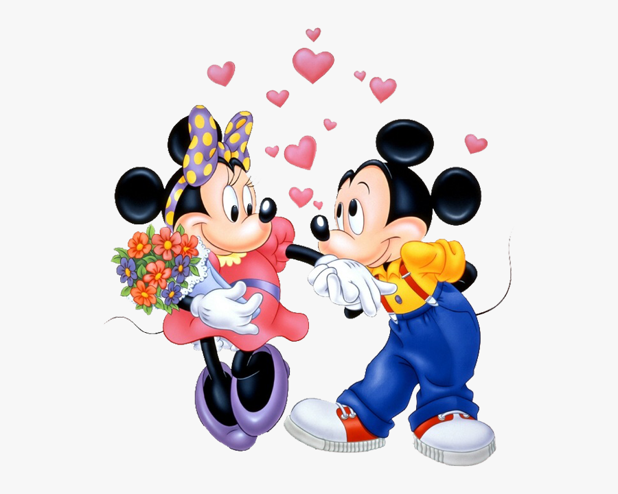 Minnie Kiss Minnies Hand - Cartoon Mickey Mouse And Minnie Mouse, Transparent Clipart