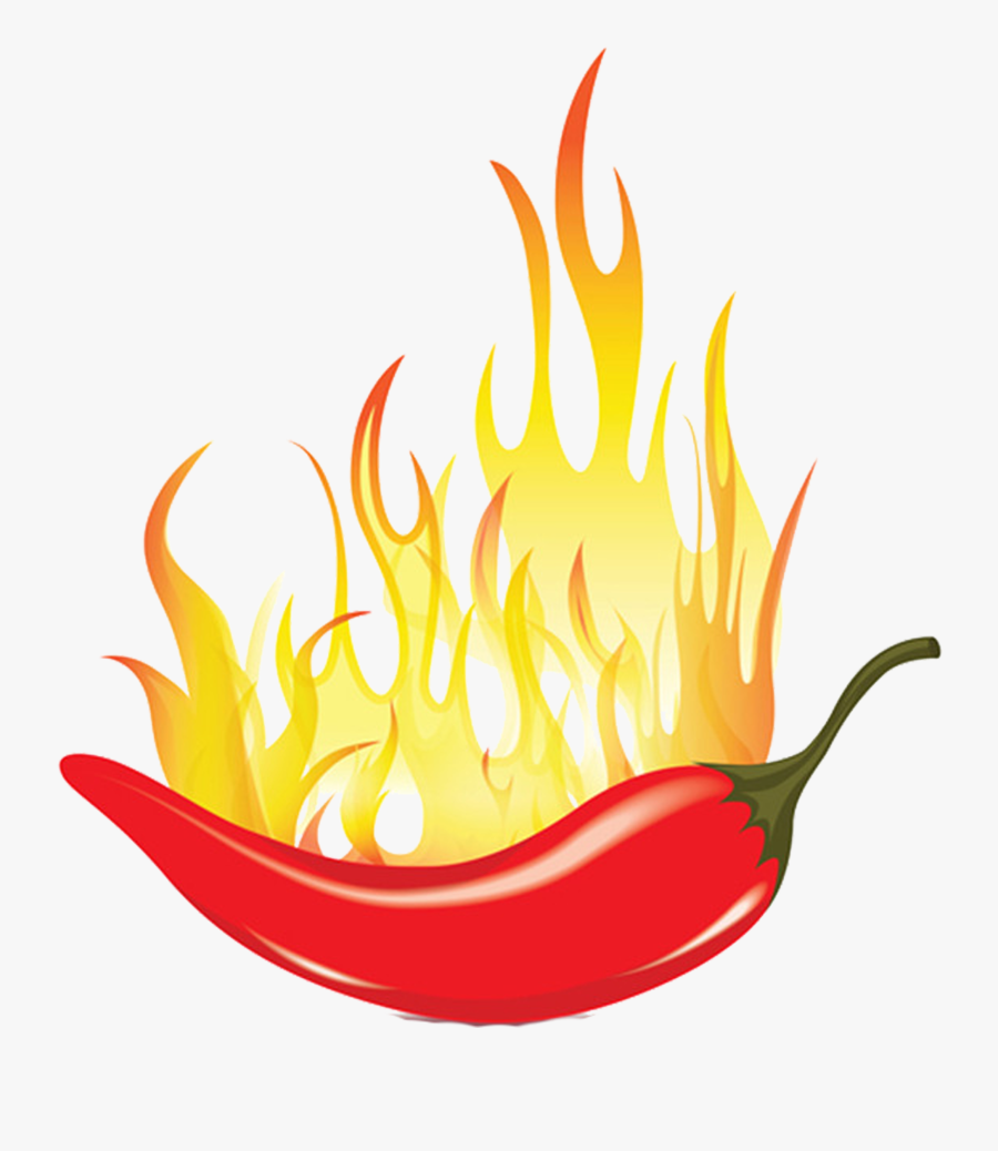 Chili Mexican Cuisine Capsicum Spice Fire Transprent - Spicy Chilli Clip Art, Transparent Clipart