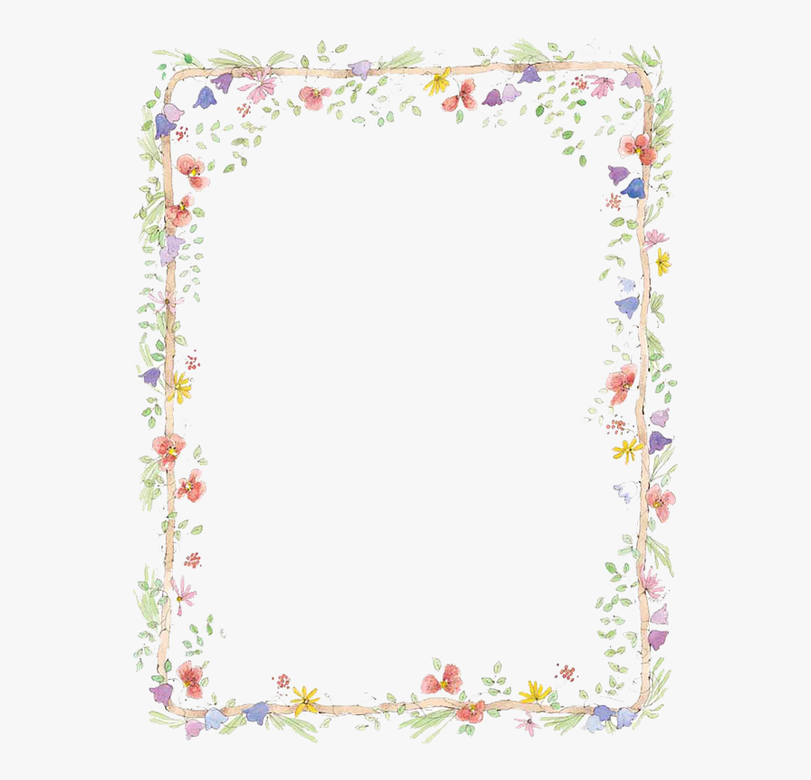 Flower Frame Clipart - Transparent Floral Frames And Borders, Transparent Clipart