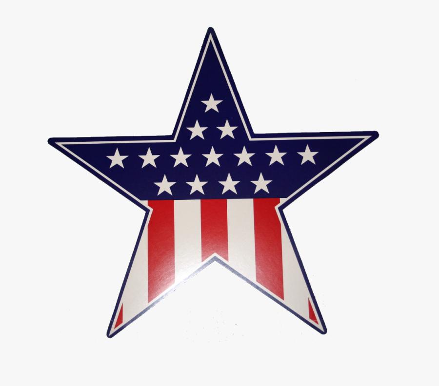 Transparent Patriotic Star Clipart - Us Flag Star Png, Transparent Clipart