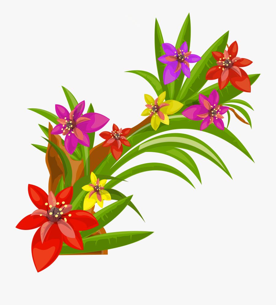 Exotic Flowers Decoration Png - Flower Decoration Png Hd, Transparent Clipart