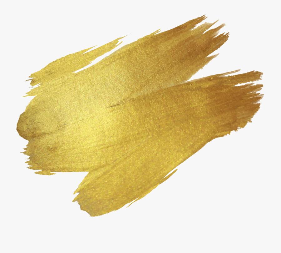 #paint #paintbrush #stroke #brush #ombre #header #textline - Golden Paint Png, Transparent Clipart