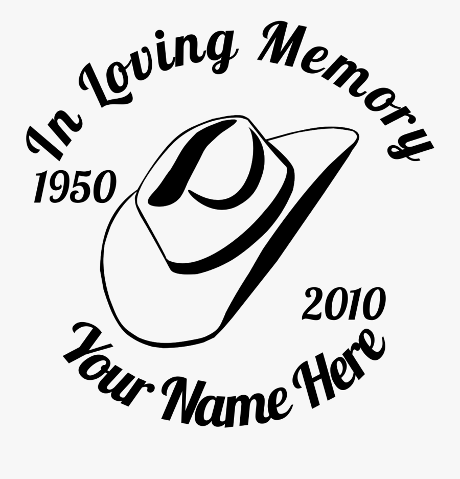 Memory Clipart Love - Loving Memory Of A Cowboy, Transparent Clipart