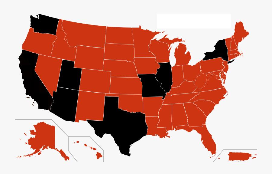 Usa Map - Us Senate Map 2017, Transparent Clipart