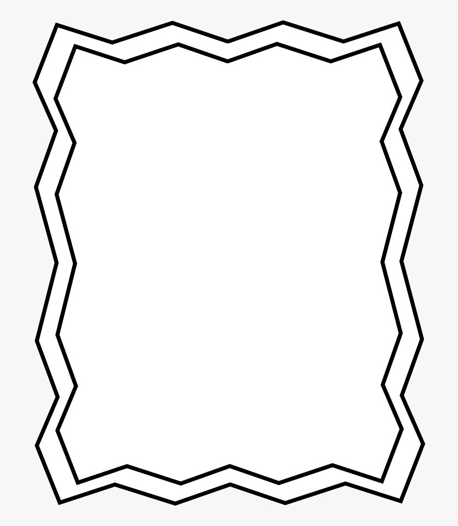 Halloween Frame - Zig Zag Border Black And White, Transparent Clipart