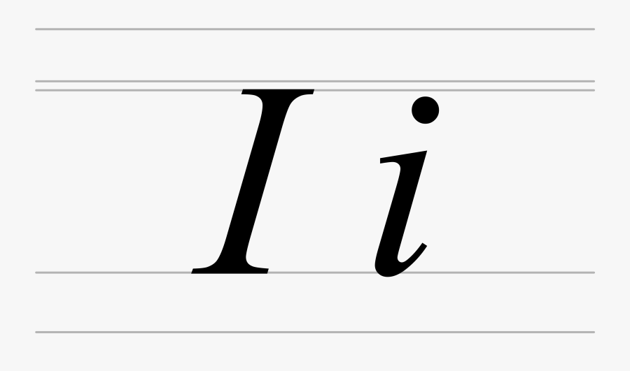Italic Cyrillic Letter Dotted I - Fancy Letter I Lowercase, Transparent Clipart