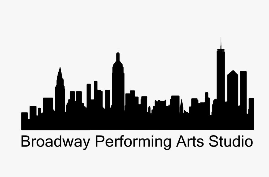 Manhattan Skyline Illustration Image Vector Graphics - Silhouette City Skylines New York, Transparent Clipart