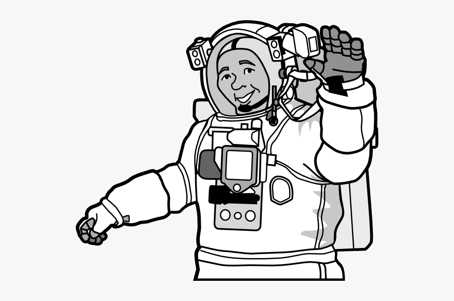 Astronaut - Astronaut Clipart Black And White Png, Transparent Clipart