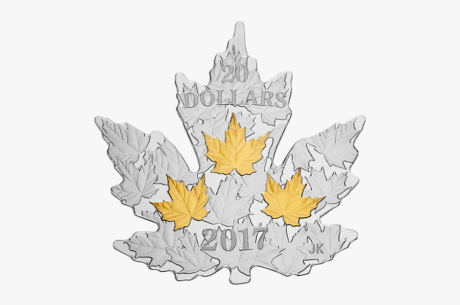 Canada Coins Maple Leaf Shape, Transparent Clipart