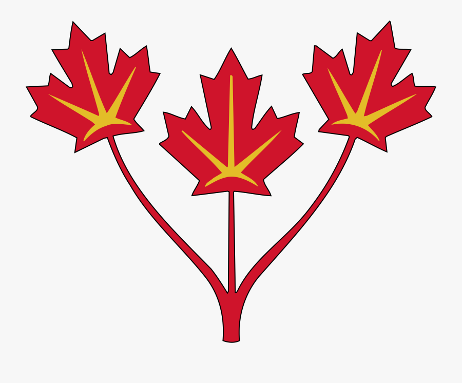 July Clipart Thing Canadian - Three Maple Leaf Flag, Transparent Clipart