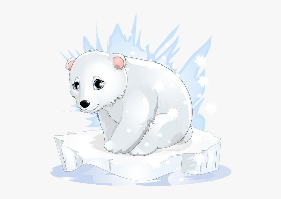 Polar Bear Cub Clipart, Transparent Clipart