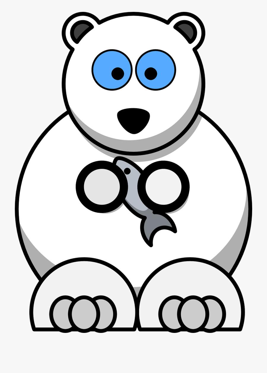 Polar Vector Graphics,free Pictures, Free Photos, Free - Clip Art Cartoon Polar Bear, Transparent Clipart