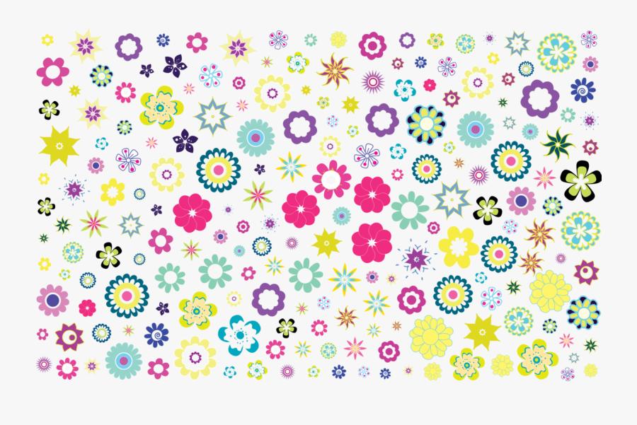 Pink,flower,area - Colorful Floral Background Patterns, Transparent Clipart