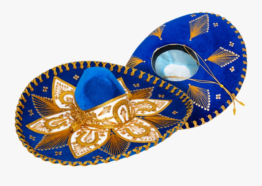 Genuine Sombrero Adult Mariachi Sombrero Charro Hat - Charro Bow Blue And Gold, Transparent Clipart