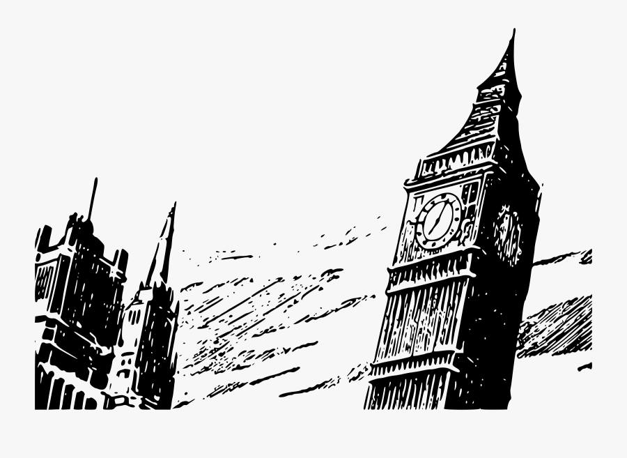 Tower Clipart Ben Gambar Big Ben Hitam Putih Free Transparent Clipart Clipartkey