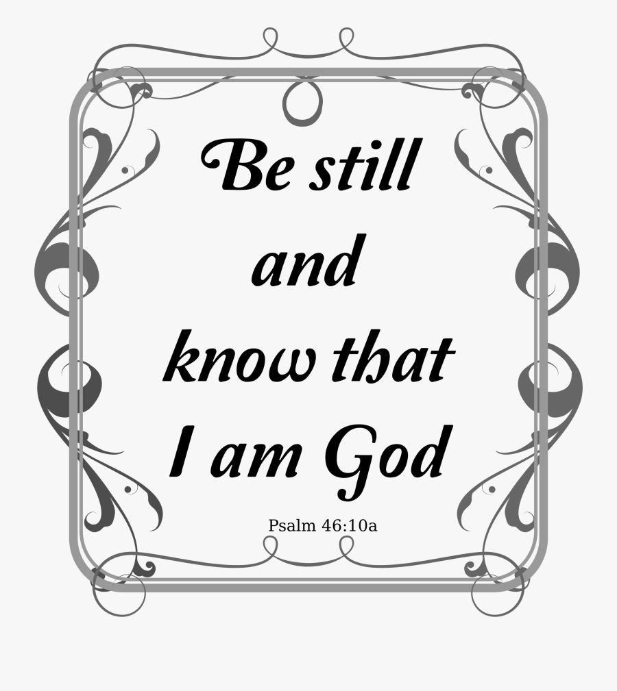 Black And White Bible Verse Clip Art , Png Download - Free Christian Clip Art For Psalm 23, Transparent Clipart