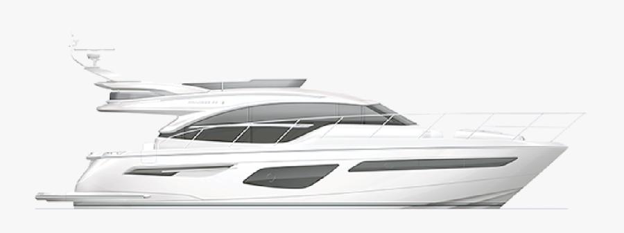 Princess F55 - Luxury Yacht, Transparent Clipart