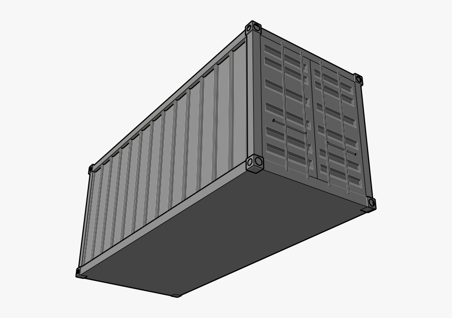 Shipping Container Svg Clip Arts - Shipping Container Clip Art, Transparent Clipart