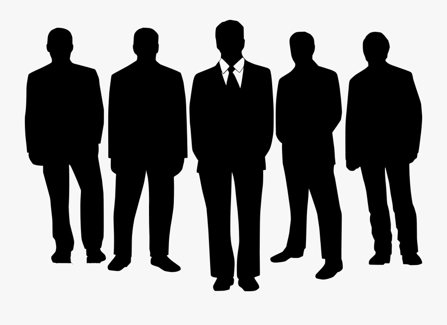 Silhouette People Standing - Managers Clip Art, Transparent Clipart