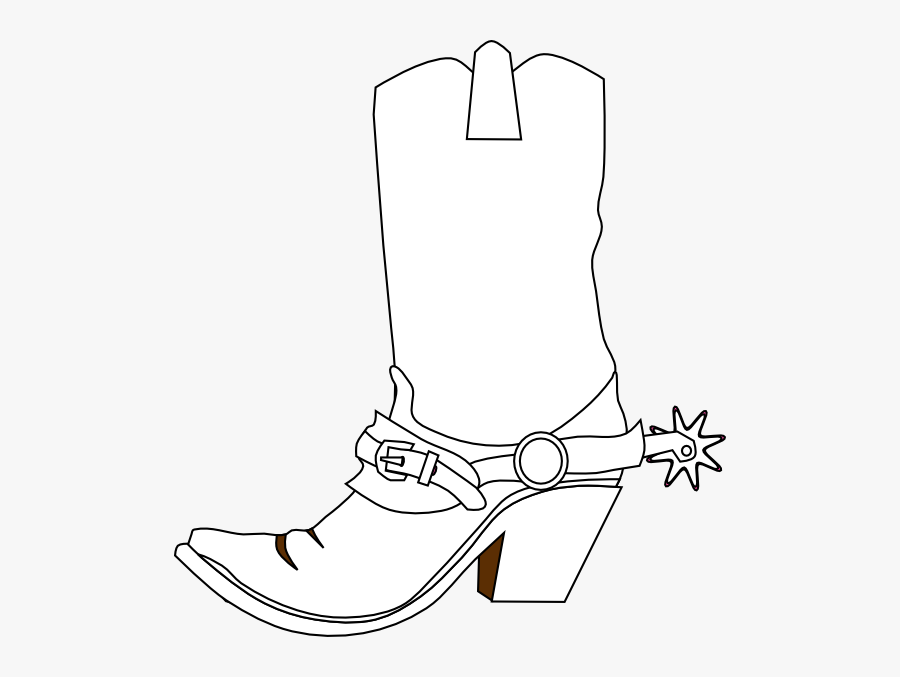 Cowboy Boot Line Drawing Transparent, Transparent Clipart