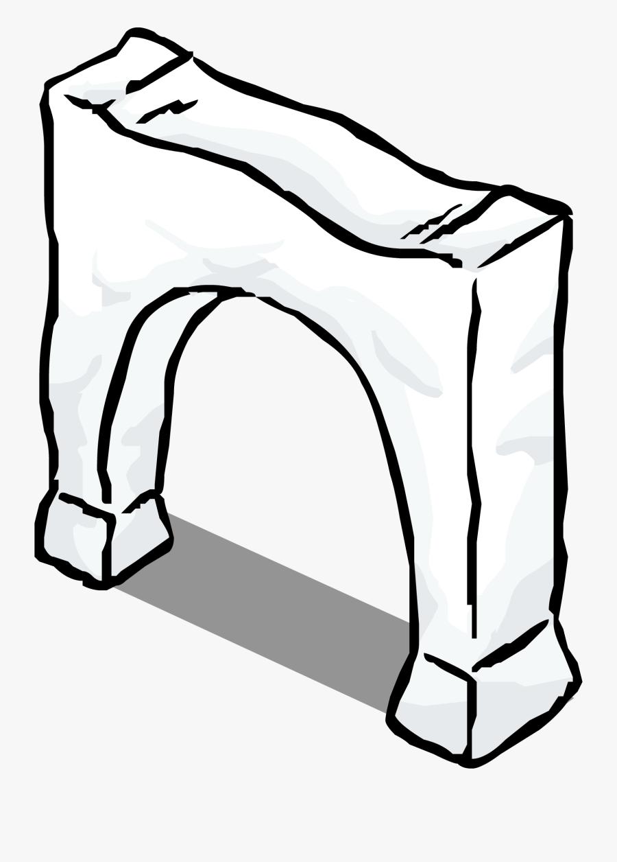 Snow Arch Sprite, Transparent Clipart