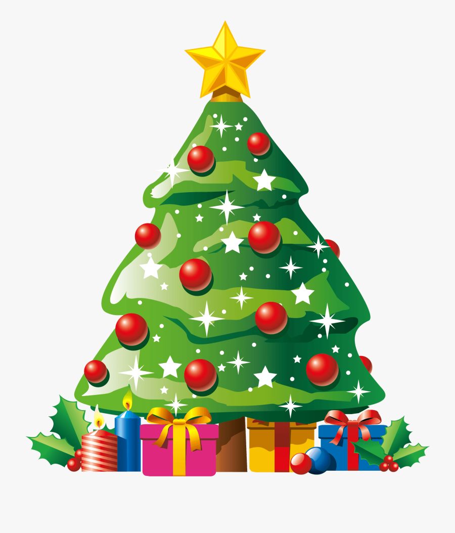 Christmas Tree Clip Art - Christmas Tree With Gifts Clipart, Transparent Clipart