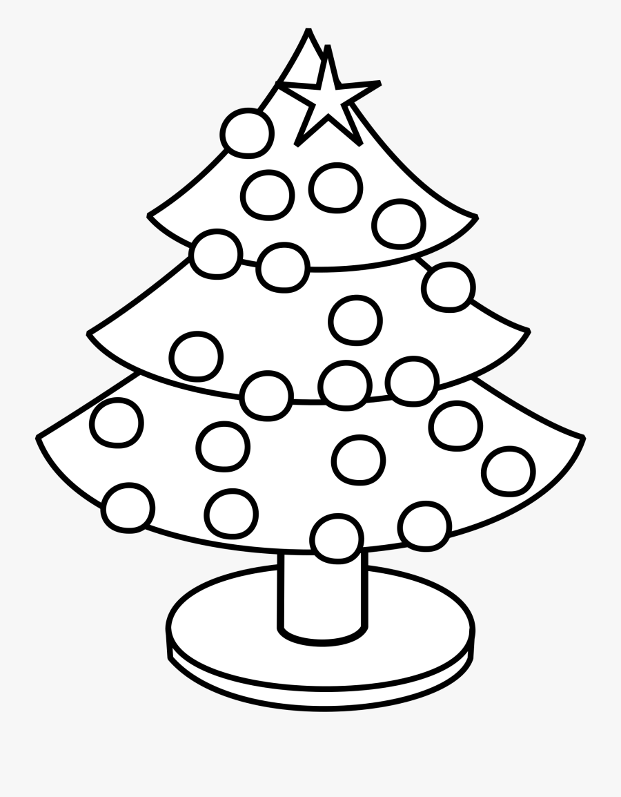 Tree Art Shop Of - Little Christmas Tree To Color, Transparent Clipart