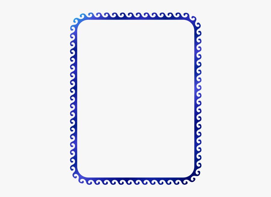 Wave Border - Border Word Png, Transparent Clipart
