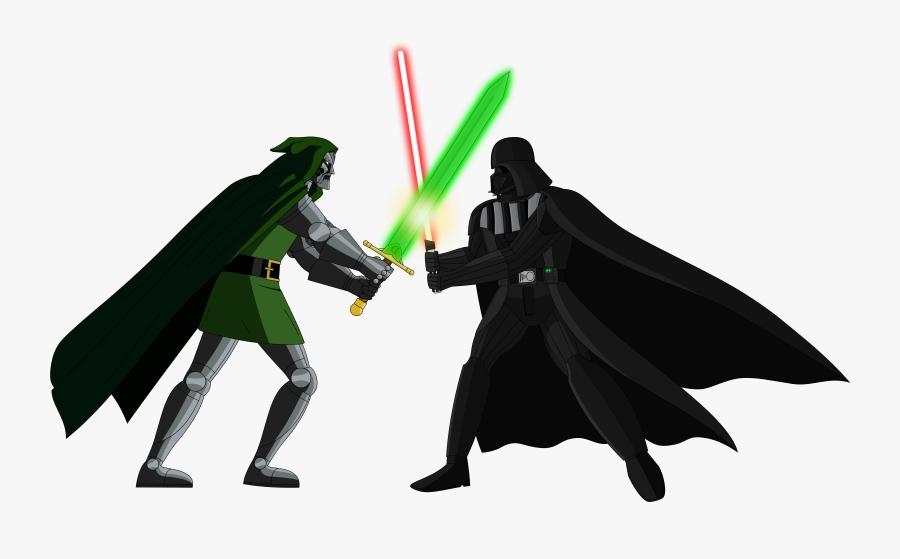 Darth Vader Vs Doctor Doom Vector By Kronoxus Luke Skywalker Vs