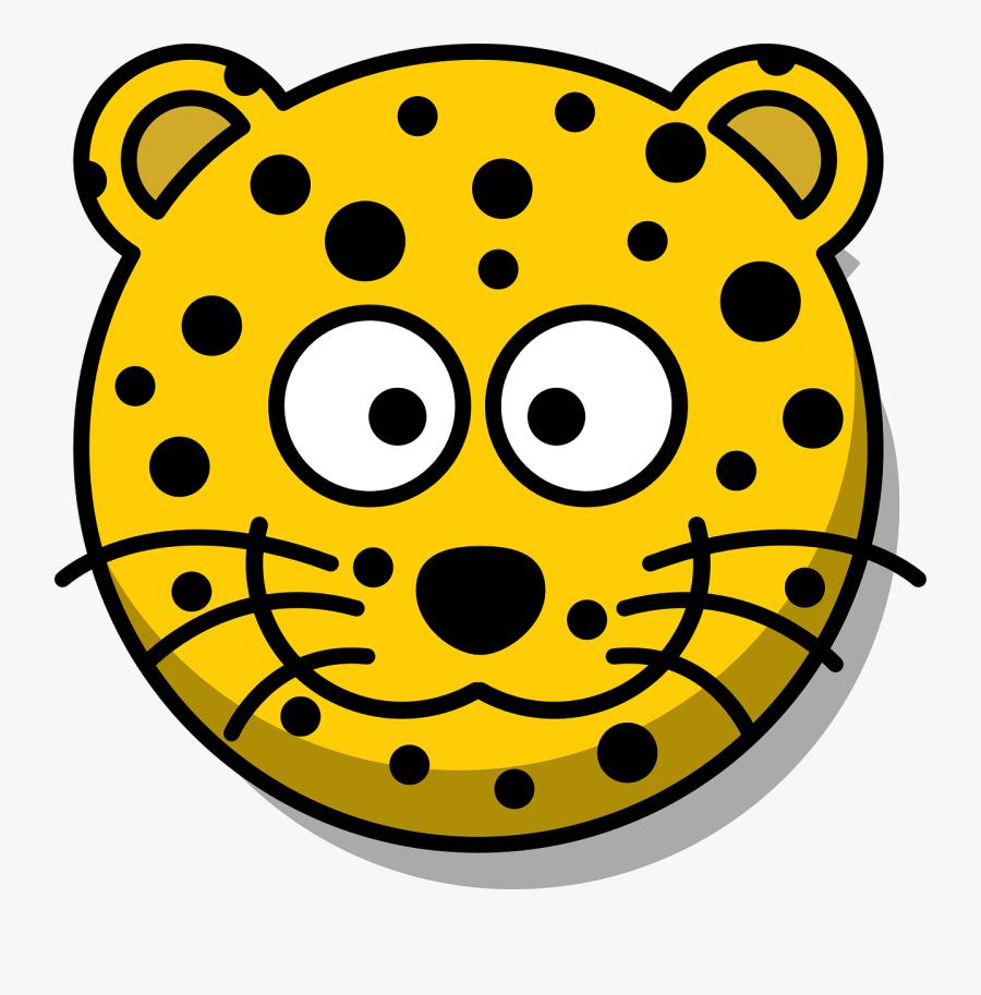 Leopard Head Grin Free Photo - Leopard Face Clipart, Transparent Clipart