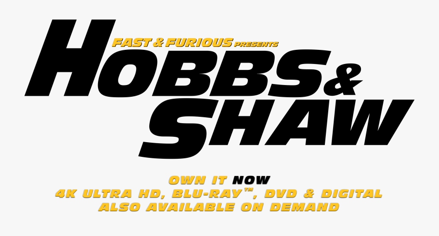 Hobbs & Shaw - Poster, Transparent Clipart