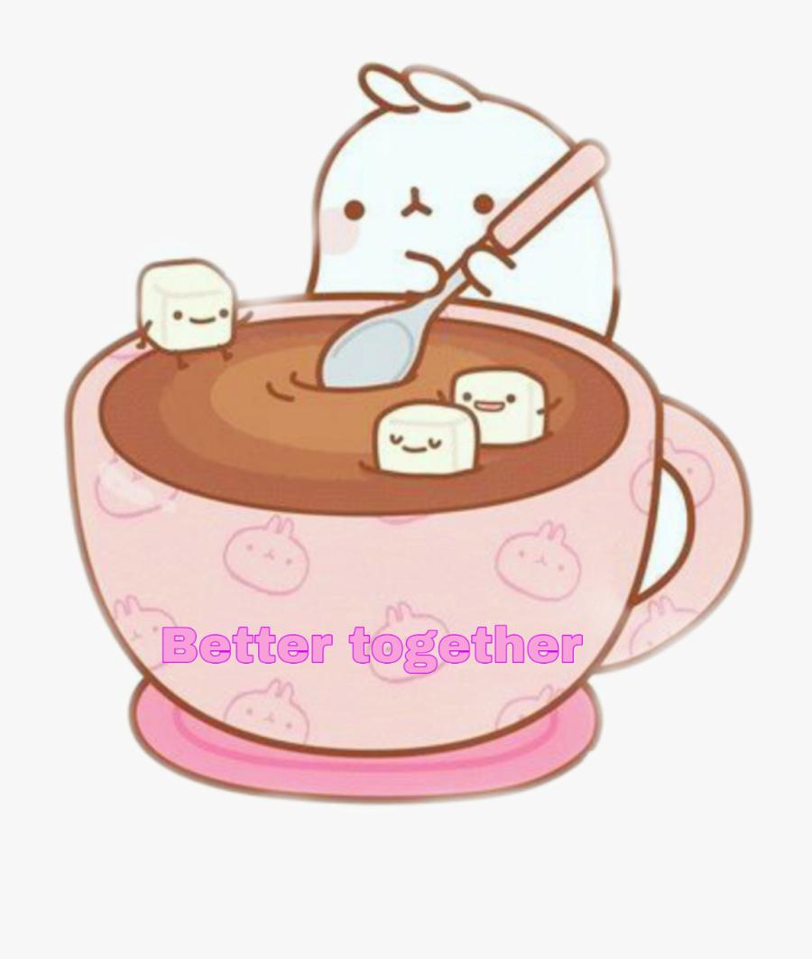 #marshmallow #cute #kawaii #stickers #challenge - Hot Chocolate Clipart Kawaii, Transparent Clipart