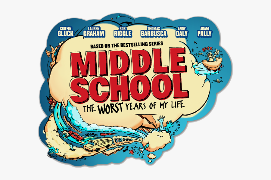 Middle School Bubble - Middle School The Worst Years Of My Life Poster, Transparent Clipart