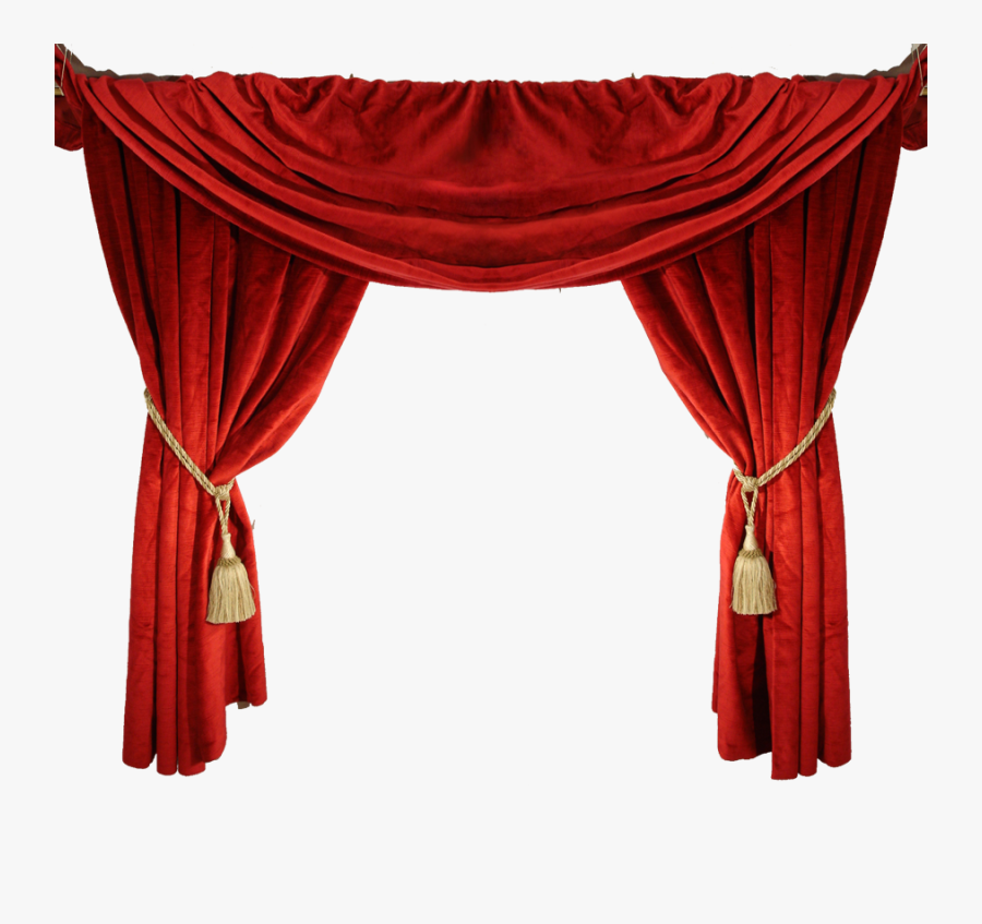 Red Curtain, Transparent Clipart