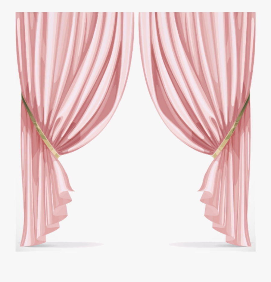 #mq #pink #window #curtains - Pink Curtain Png, Transparent Clipart