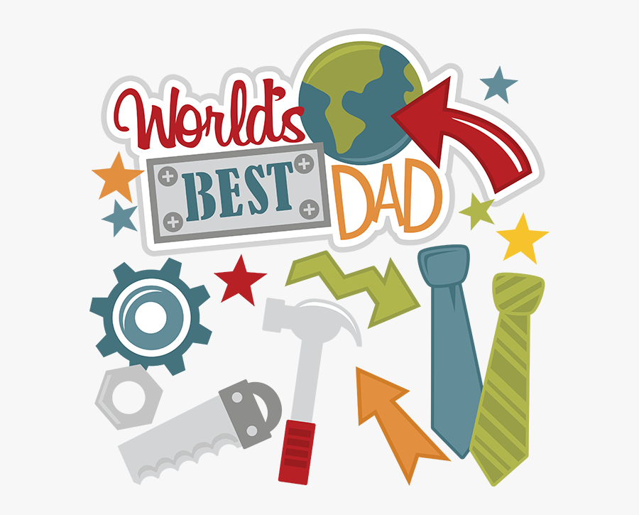 Best Dad Of The World, Transparent Clipart