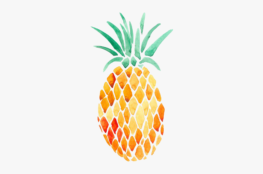 Pineapple Watercolor Painting Art Transparent Watercolor - Cute Summer Pineapple, Transparent Clipart
