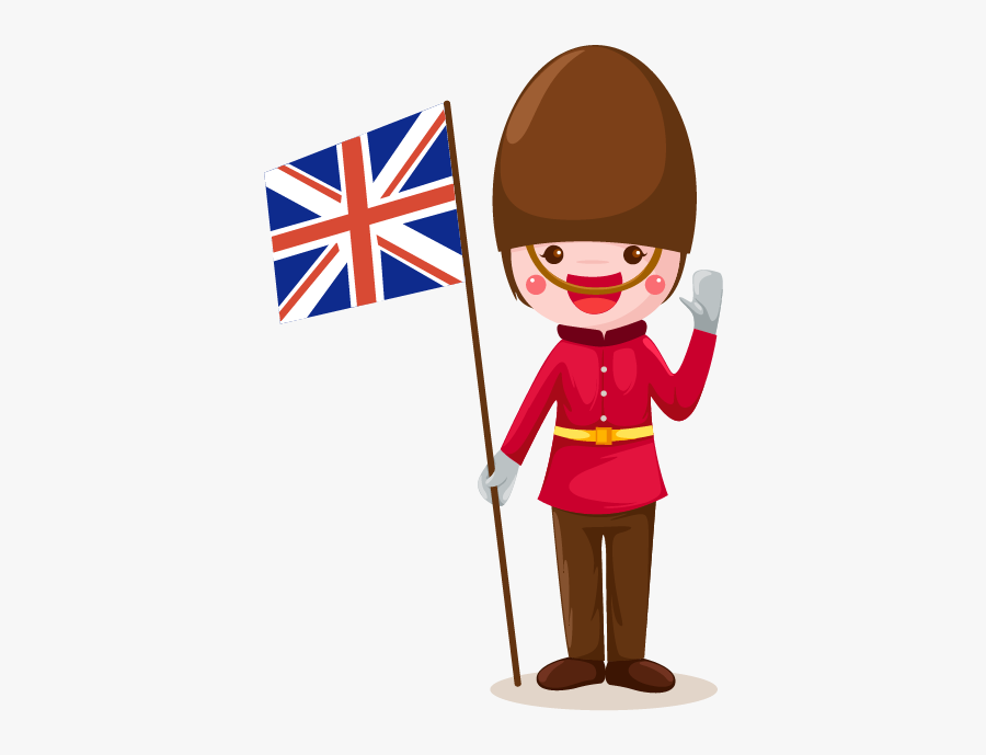 England London Soldier Png - England Flag Cartoon Png, Transparent Clipart