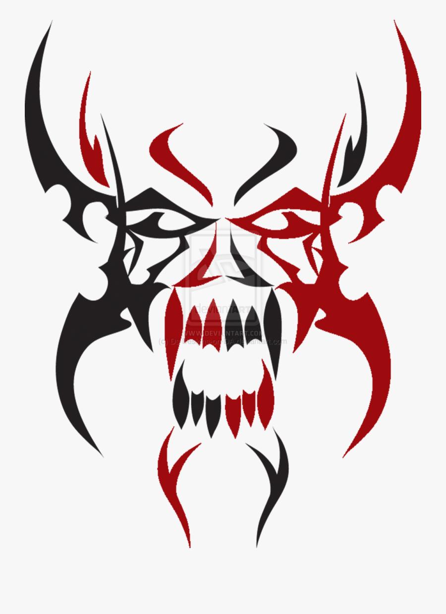 Tattoo Tribe Clip Art - Demonic Tribal Tattoo Designs, Transparent Clipart