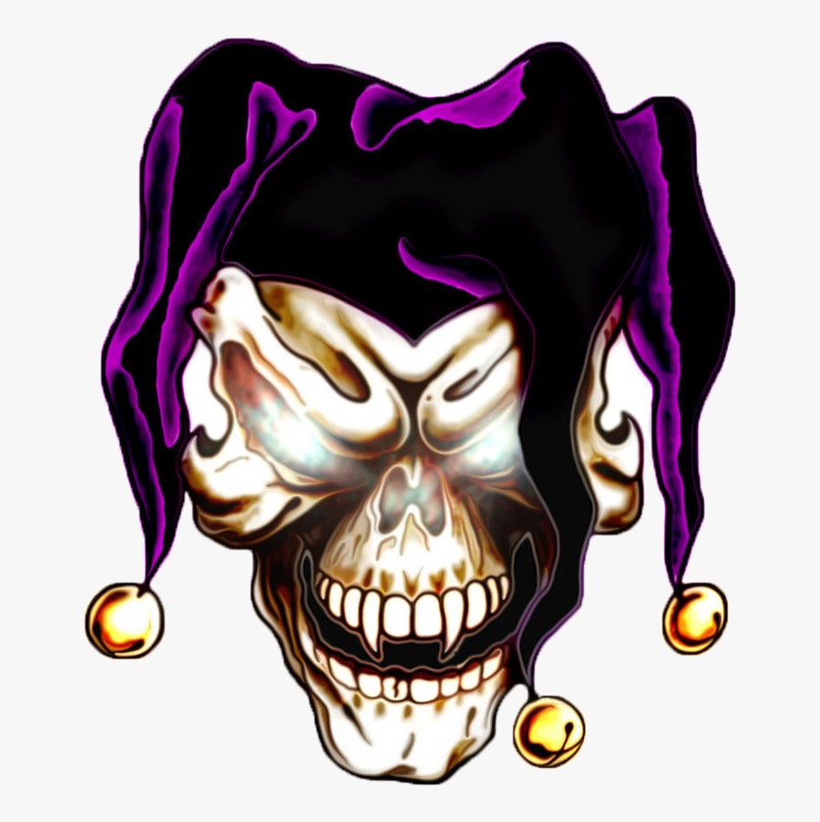 Joker Skull Tattoo Designs Clipart , Png Download - Easy Badass Skull Drawing, Transparent Clipart