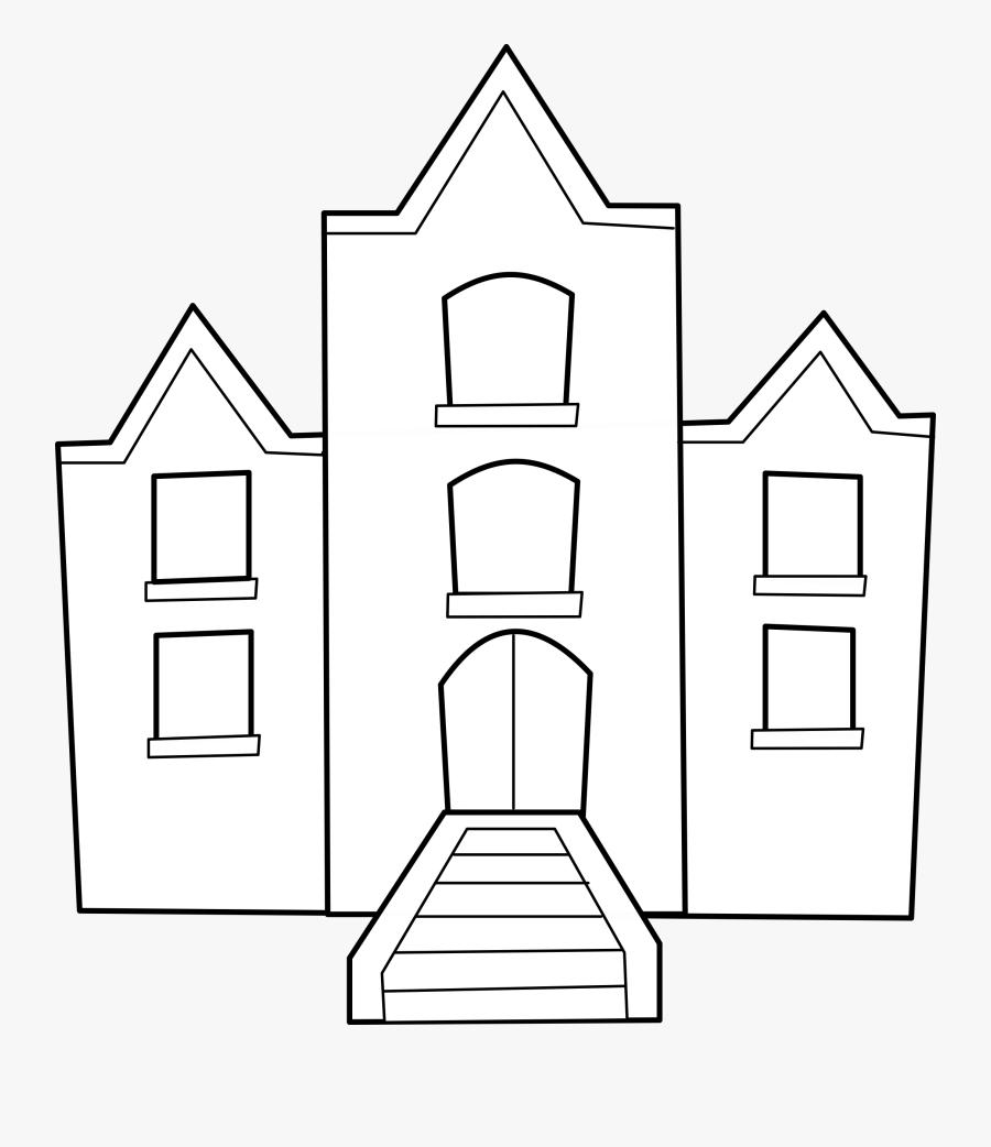 Coll Ge Big Image - School Building Clip Art, Transparent Clipart