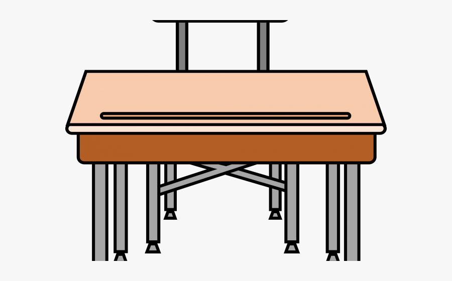 Desk Clipart Empty Desk - Desk Clipart, Transparent Clipart