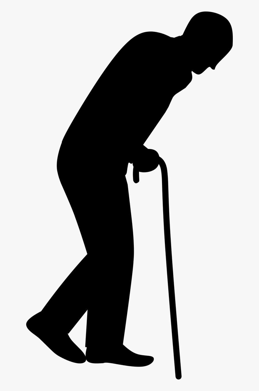 Transparent Man Walking Silhouette Png - Silhouette Old Man Walking, Transparent Clipart