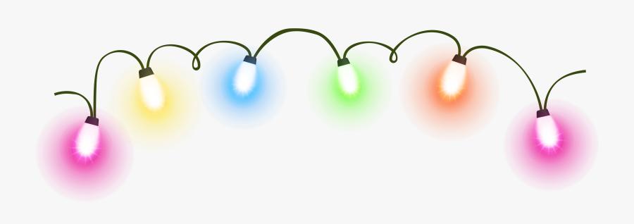 Christmas Lights Lighting Animation Clip Art - Christmas Lights Transparent Background, Transparent Clipart