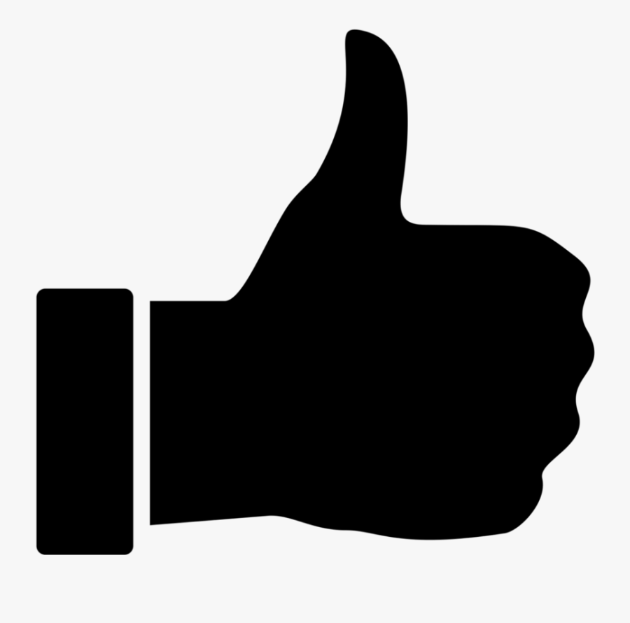Thumbs Up Thumbs Down Black Background Clipart Free - Transparent Background Thumb Up Icon Png, Transparent Clipart
