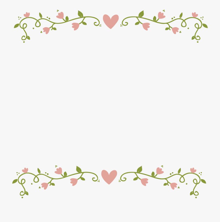 Transparent Flower Border - Floral Border Transparent Background, Transparent Clipart
