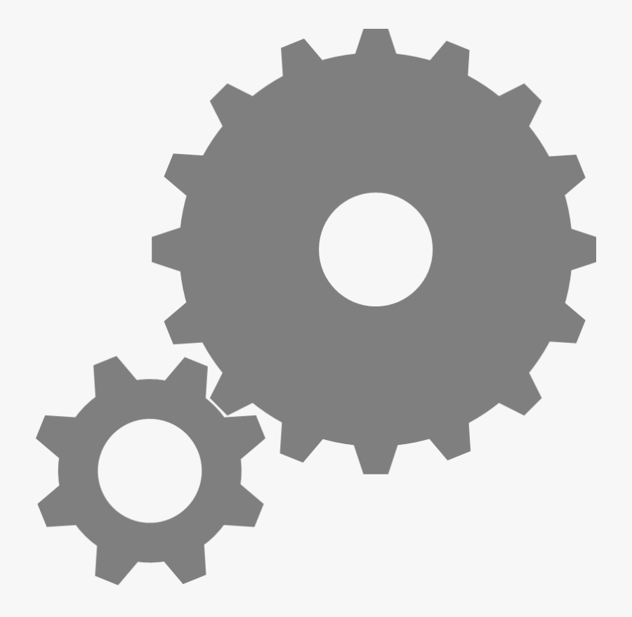 Gears Icon - Big Gear Small Gear, Transparent Clipart