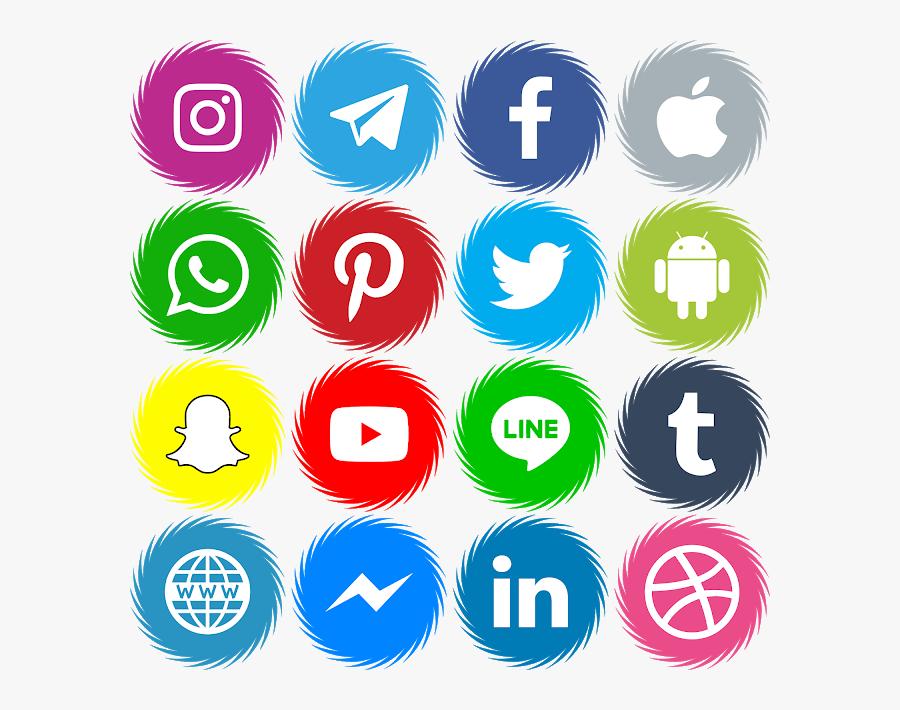 Round Social Media Logos Png, Transparent Clipart