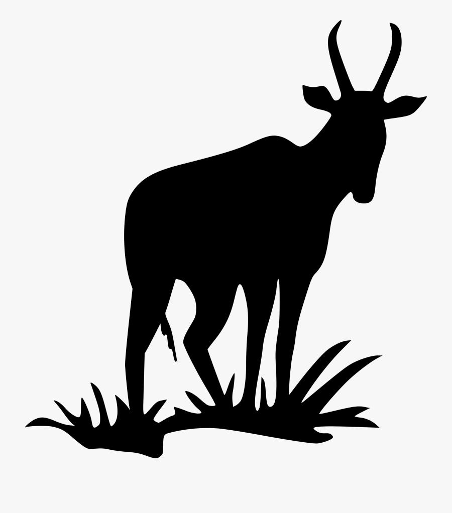 Antelope Pronghorn Impala Clip Art - Pronghorn Deer Silhouette, Transparent Clipart