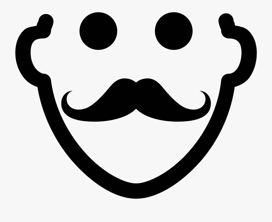 Vector Lips Moustache - Face Mustache Icon Png, Transparent Clipart
